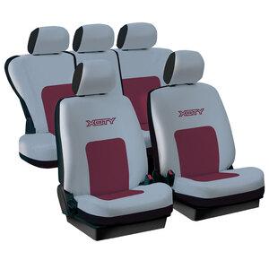 Presvlake sjedala univerzalne x-city-crvena