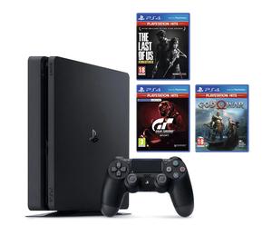 PlayStation 4 500GB F + 3 igre (Gran Turismo + God of War + The Last of Us Remastered)