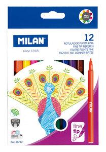 Flomasteri MILAN Peacock tanki vrh perivi 12/1
