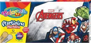 Plastelin Colorino Marvel Avengers, sa srebrnom i zlatnom