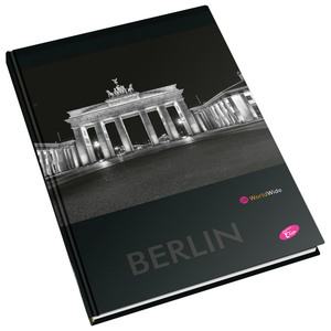 Bilježnica Cities By Night Elisa, A4, linije, tvrdi uvez