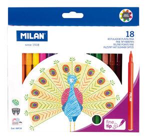Flomasteri MILAN Peacock tanki vrh perivi 18/1