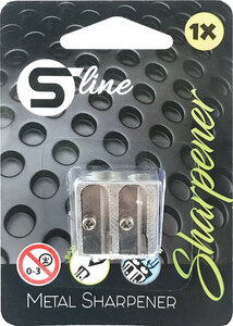 Šiljilo metalno S-LINE 2 rupe koso alum.