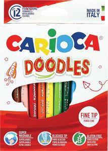 Flomasteri CARIOCA JOY DOODLES box 12/1