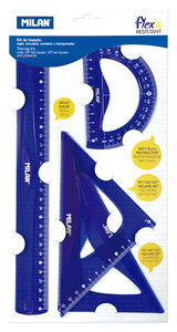 Geometrijski set veliki MILAN flex&resistant plavi