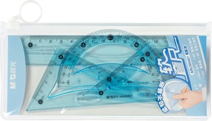 Geometrijski set M&G flexi - plava