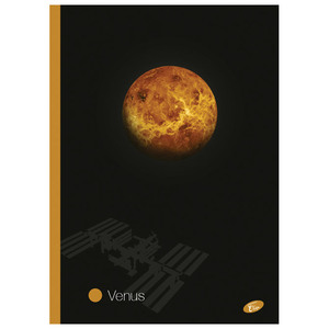 Bilježnica Planets Elisa, A4 , linije, meki uvez