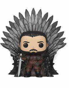 FUNKO POP! Deluxe: GOT S10 - Jon Snow sitting on the Iron throne