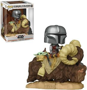 FUNKO POP! Deluxe: The Mandalorian - Mando on Bantha with Child in the bag