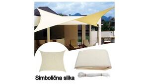 Tenda (sjenilo) zaštita od sunca kvadrat 3.6 x 3.6 m - Svijetlo krem