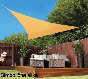 Tenda (sjenilo) zaštita od sunca trokut 4 x 5 x 5 m  Boja pijeska