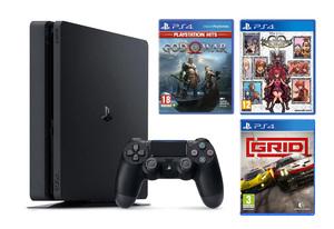 PlayStation 4 500GB + God Of War + KINGDOM HEARTS Melody of Memory + Grid: Standard Edition PS4