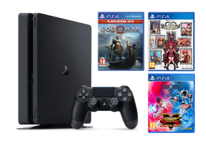 PlayStation 4 500GB + God Of War + KINGDOM HEARTS Melody of Memory + Street Fighter V Champion Edition