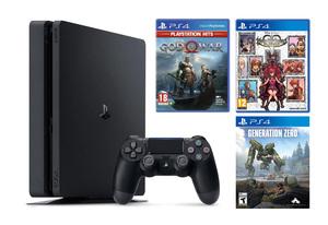 PlayStation 4 500GB + God Of War + KINGDOM HEARTS Melody of Memory + Generation Zero PS4