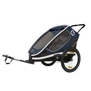 HAMAX prikolica za bicikl Hamax Outback za 2 djece 3 pozicije sjedala, plavo/bijela