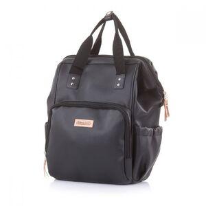 Chipolino torba za kolica - ruksak Black leather