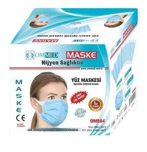 Jednokratna maska za lice, 3 sloja, 100 komada, deblja gumica oko uha
