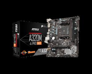 Matična ploča MSI A320M-A PRO MAX, AM4, DDR4,mATX