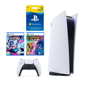 PlayStation 5 B + Ratchet & Clank Rift Apart PS5 + Destruction AllStars PS5 + Playstation Plus Card 365