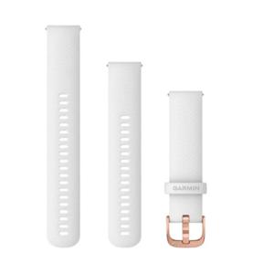Garmin zamjenski remen za Vivoactive 3, 20mm, Bijela silikonska narukvica s ružičasto-zlatnim metalnim dijelovima