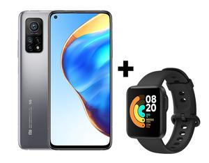 Xiaomi Mi 10T 5G 6GB/128GB srebrna, mobitel + poklon Xiaomi Mi Watch Lite sat, crni