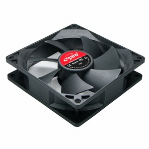 Ventilator Spire Case/Pow. 92x92x25, Crni