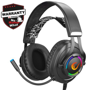 Slušalice RAMPAGE RM-K18 Double Black, mikrofon, 7.1, PC/PS4/PS5, RGB, crne