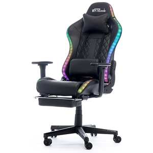 Bytezone Cobra gaming stolica, RGB, masažni jastuk, bluetooth zvučnici, crna