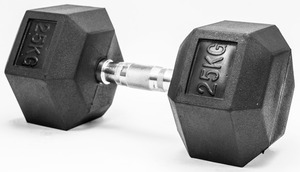 FITMOTIV gumirana bučica Hex 25 kg