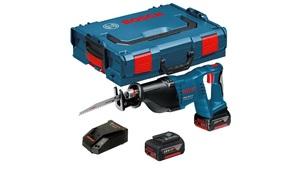 BOSCH Professional akumulatorska sabljasta pila GSA 18 V-LI, 2x 5,0Ah, punjač, L-BOXX