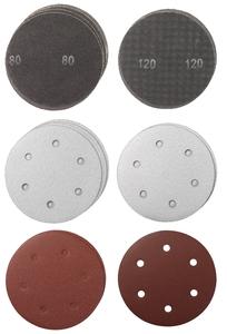 KWB Set brusnog papira 225 mm, 15/1,  (G80x10, G120x5), za TC-DW 225