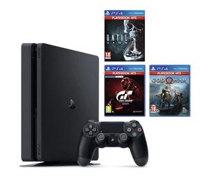 PlayStation 4 500GB F + 3 igre (Gran Turismo + Until Dawn + God of War)