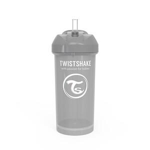 Twistshake Bočica sa slamkom 360ml 6+m Pastel Grey