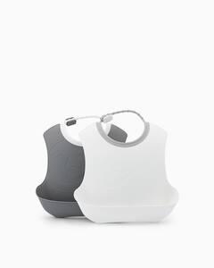 Twistshake 2x podbradnjak 4+m Pastel Grey White