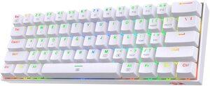 Redragon K630 RGB, gaming mehanička tipkovnica, brown switches, bijela