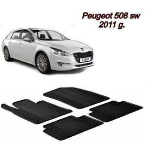 Gumeni auto tepisi za Peugeot 508 SW - 2011. - komplet prednji i zadnji