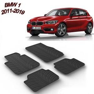 Gumeni auto tepisi za BMW 1 2011.-2019. - komplet prednji i zadnji