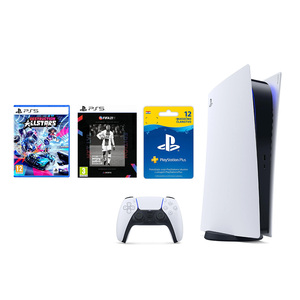 PlayStation 5 B Chassis + FIFA 21 Next Level PS5 + Destruction AllStars PS5 + PlayStation Plus Card 365