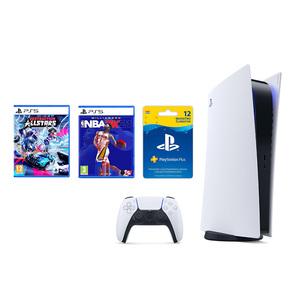 PlayStation 5 B Chassis + NBA 2K21 PS5 + Destruction AllStars PS5 + PlayStation Plus Card 365