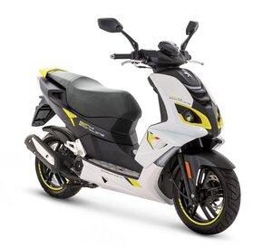 Peugeot skuter Speedfight 4 4T 50 E5 Sportline- White/Yellow