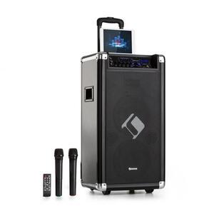 """Auna Moving 120, PA sustav, 2x8"""" woofer, 60/200 W max, VHF mikrofon, USB, SD, BT, AUX, prijenosni"""