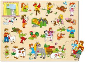 Woody puzzle sa ručkama