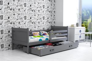 Drveni dječji krevet Rino - grafit - 190x80 cm