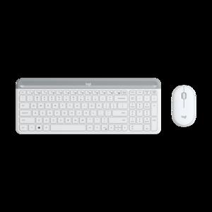 Logitech MK470, Slim Wireless tipkovnica + miš, bijela, 920-009205