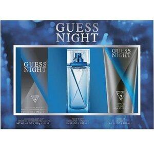 Guess Night EDT 3 Piece Gift Set: EDT 100 ml - Deodorant Spray 226 ml - Shower Gel 200 ml, muški poklon set