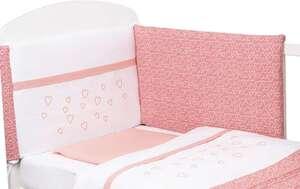 Bubaba posteljina 6-djelna srce  roza  wafl