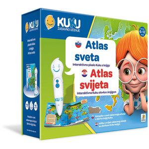 KUKU interaktivna olovka s knjigom - Atlas svijeta