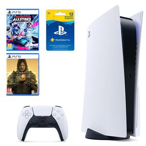 PlayStation 5 B Chassis + Destruction AllStars PS5 + Death Stranding Director's Cut PS5 + PlayStation Plus Card 365 Dana