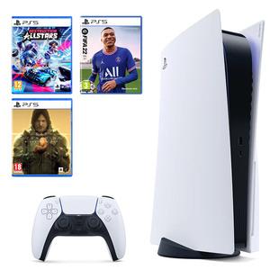 PlayStation 5 B Chassis + Destruction AllStars PS5 + Death Stranding Director's Cut PS5 + Fifa 22 PS5