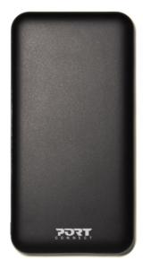 Port slim powerbank 10000 mAh,USB-C, USB-A, crni